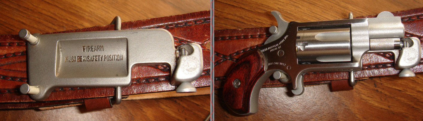 NAA Mini-Revolver in Belt Buckle