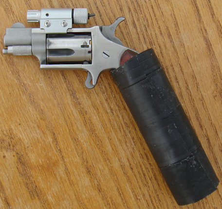 NAA mini-revolver with custom slip-on grip
